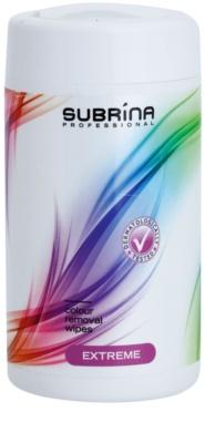 Subrina Professional Colour Extreme čisticí ubrousky na odstraňování barvy z pokožky