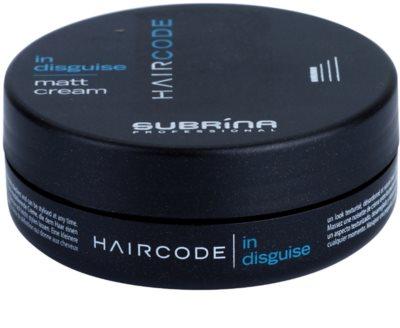 Subrina Professional Hair Code In Disguise creme matificante  para definir e formar