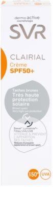 SVR Clairial schützende Creme gegen Pigmentflecken SPF 50+ 3