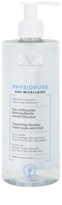SVR Physiopure água micelar para uma limpeza suave para rosto e contorno dos olhos