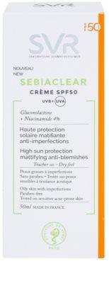 SVR Sebiaclear schützende matte Creme für fettige Haut mit Schönheitsfehlern SPF 50 2