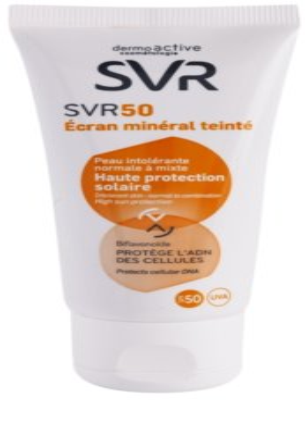 SVR Solaires Creme mineral matizado para pele normal a mista SPF 50