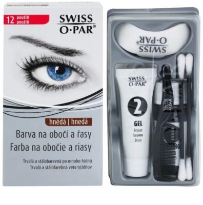 Swiss O.Par Color Kit barva za obrvi in trepalnice 1