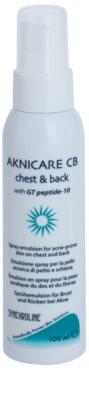 Synchroline Aknicare  CB emulsión en spray para piel con tendencia al acné en pecho y espalda