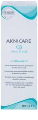 Synchroline Aknicare  CB emulsión en spray para piel con tendencia al acné en pecho y espalda 3