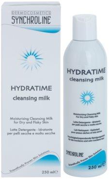 Synchroline Hydratime leite de limpeza hidratante para pele seca a muito seca 1