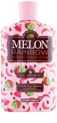 Tannymaxx 6th Sense Melon Rainbow crema bronceadora adelgazante para un bronceado moreno de solárium