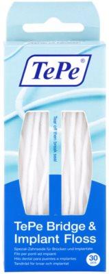 TePe Bridge & Implant Floss спеціальна зубна нитка для чищення імплантантів