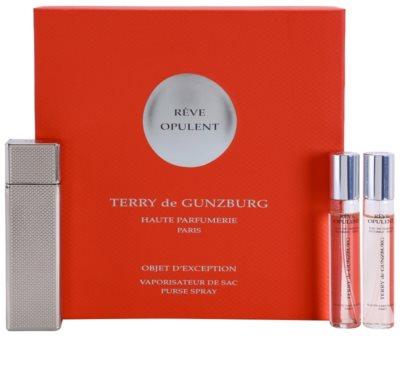 Terry de Gunzburg Reve Opulent Eau de Parfum für Damen  2x Nachfüllung mit Zersträuber mit Metalletui