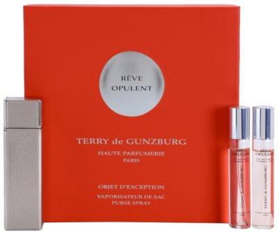 Terry de Gunzburg Reve Opulent Eau De Parfum pentru femei  (2x spray reincarcabil) + cutie metalica