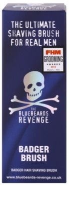 The Bluebeards Revenge Corsair Super Badger Shaving Brush pincel de barbear com pelos de texugo 3
