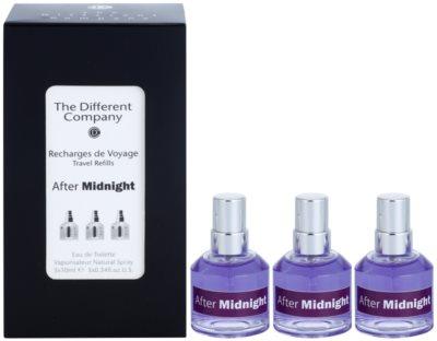 The Different Company After Midnight Eau de Toilette unisex  Dreifach-Nachfüllpackung mit Zerstäuber