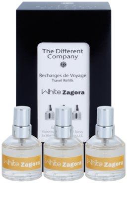 The Different Company White Zagora Eau de Toilette für Damen  Dreifach-Nachfüllpackung mit Zerstäuber 1