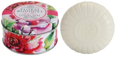 The Somerset Toiletry Co. Floral Bouquet Red Rose luxus bar szappan
