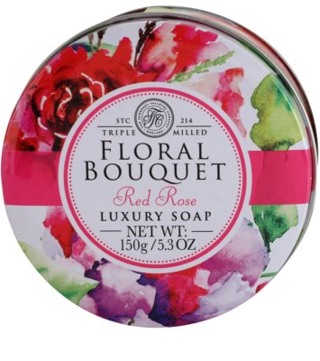 The Somerset Toiletry Co. Floral Bouquet Red Rose jabón sólido de lujo 3