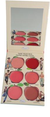 theBalm How 'Bout Them Apples? estuche de maquillaje coloretes y barras de labios textura crema 1