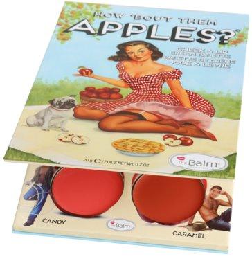 theBalm How 'Bout Them Apples? paleta krémových tvářenek a rtěnek 2
