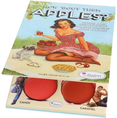 theBalm How 'Bout Them Apples? estuche de maquillaje coloretes y barras de labios textura crema 2