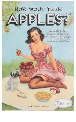 theBalm How 'Bout Them Apples? estuche de maquillaje coloretes y barras de labios textura crema 4