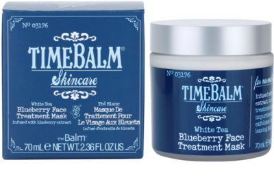 theBalm TimeBalm Skincare Blueberry Face Treatment Mask masca intensiva