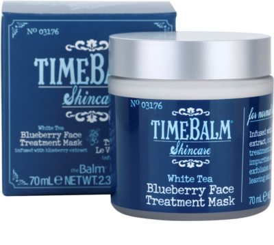 theBalm TimeBalm Skincare Blueberry Face Treatment Mask masca intensiva 3