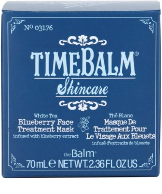 theBalm TimeBalm Skincare Blueberry Face Treatment Mask masca intensiva 4