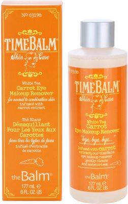 theBalm TimeBalm Skincare Carrot Eye Makeup Remover desmaquilhante de olhos para pele normal a mista