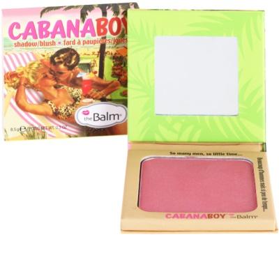 theBalm CabanaBoy blush e sombras em um