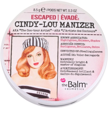 theBalm Cindy - Lou Manizer iluminador y sombras de ojos con acabado brillante  en un solo producto 2