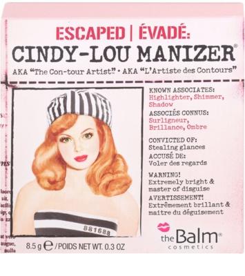 theBalm Cindy - Lou Manizer iluminador y sombras de ojos con acabado brillante  en un solo producto 3