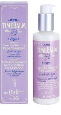 theBalm TimeBalm Skincare Lavender Foaming Face Cleanser schaumiges Reinigungsgel für alle Hauttypen