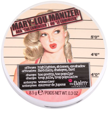 theBalm Mary - Lou Manizer Highlighter, Shimmer And Shadows In One 2