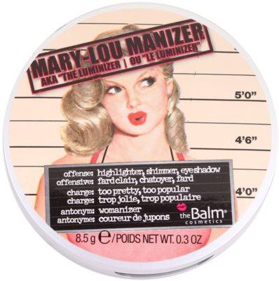 theBalm Mary - Lou Manizer kiemelő,csillámosító és árnyékoló egyben 2