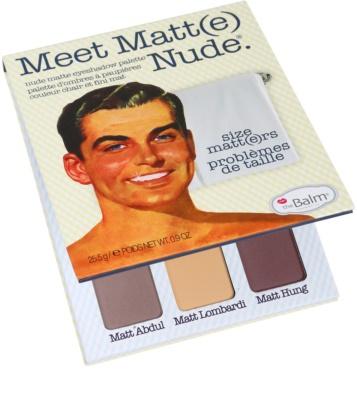 theBalm Meet Matt(e) Nude paleta farduri de ochi 2