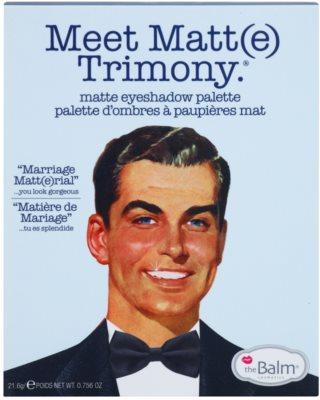 theBalm Meet Matte(e) Trimony paleta de sombras de ojos con un espejo pequeño 2