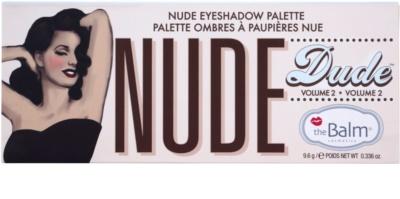theBalm Nude Dude szemhéjfesték paletták ecsettel 3
