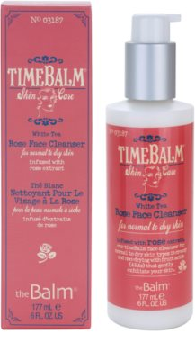 theBalm TimeBalm Skincare Rose Face Cleanser gel crema restorativ pentru curatare delicata pentru piele normala si uscata