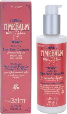 theBalm TimeBalm Skincare Rose Face Cleanser nežna čistilna gelasta krema za normalno in suho kožo