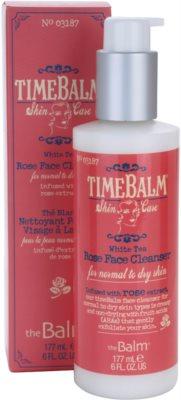 theBalm TimeBalm Skincare Rose Face Cleanser gel crema restorativ pentru curatare delicata pentru piele normala si uscata 2