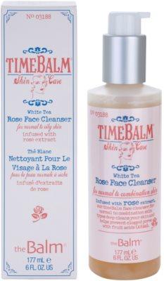 theBalm TimeBalm Skincare Rose Face Cleanser emulsão de limpeza suave para pele normal a oleosa
