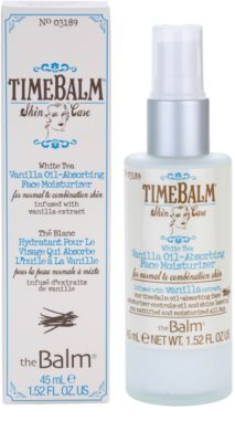 theBalm TimeBalm Skincare Vanilla Oil-Absorbing Face Moisturizer crema de textura ligera y no grasa