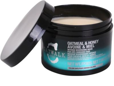 TIGI Catwalk Oatmeal & Honey intenzivna hranilna maska za suhe in poškodovane lase 1