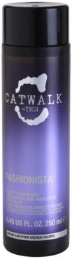 TIGI Catwalk Fashionista acondicionador violeta para cabello rubio y con mechas