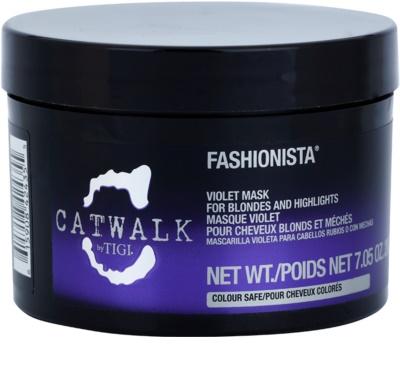 TIGI Catwalk Fashionista fialová maska pro blond a melírované vlasy