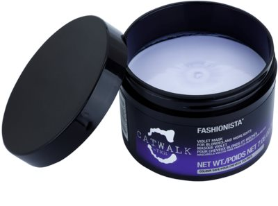 TIGI Catwalk Fashionista mascarilla violeta para cabello rubio y con mechas 1