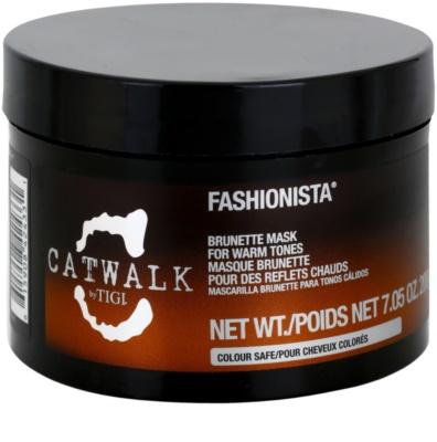 TIGI Catwalk Fashionista máscara para tons quentes de cabelo castanho