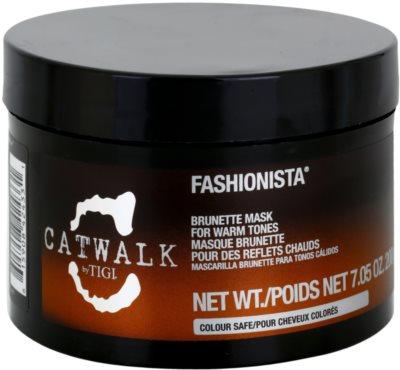 TIGI Catwalk Fashionista maska pro teplé odstíny hnědých vlasů