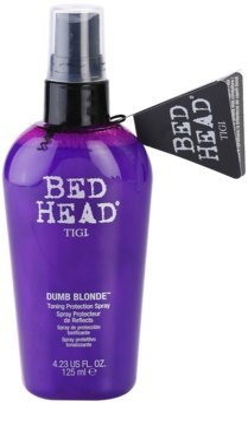 TIGI Bed Head Dumb Blonde ochronny spray tonujący do włosów blond