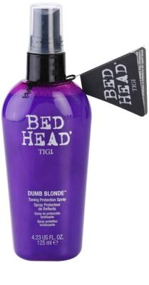 TIGI Bed Head Dumb Blonde tönendes Schutzspray für blonde Haare