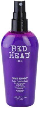 TIGI Bed Head Dumb Blonde zaščitno tonirano pršilo za blond lase 1